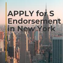 S endorsement in New York